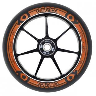 District Dual Width Core Wheel 120 Black Orange