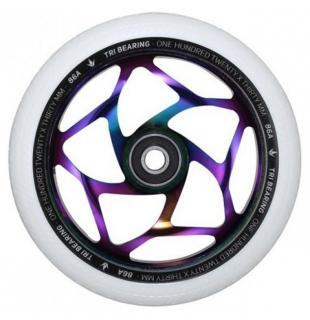 Blunt Tri Bearing 120 Wheel White OilSlick